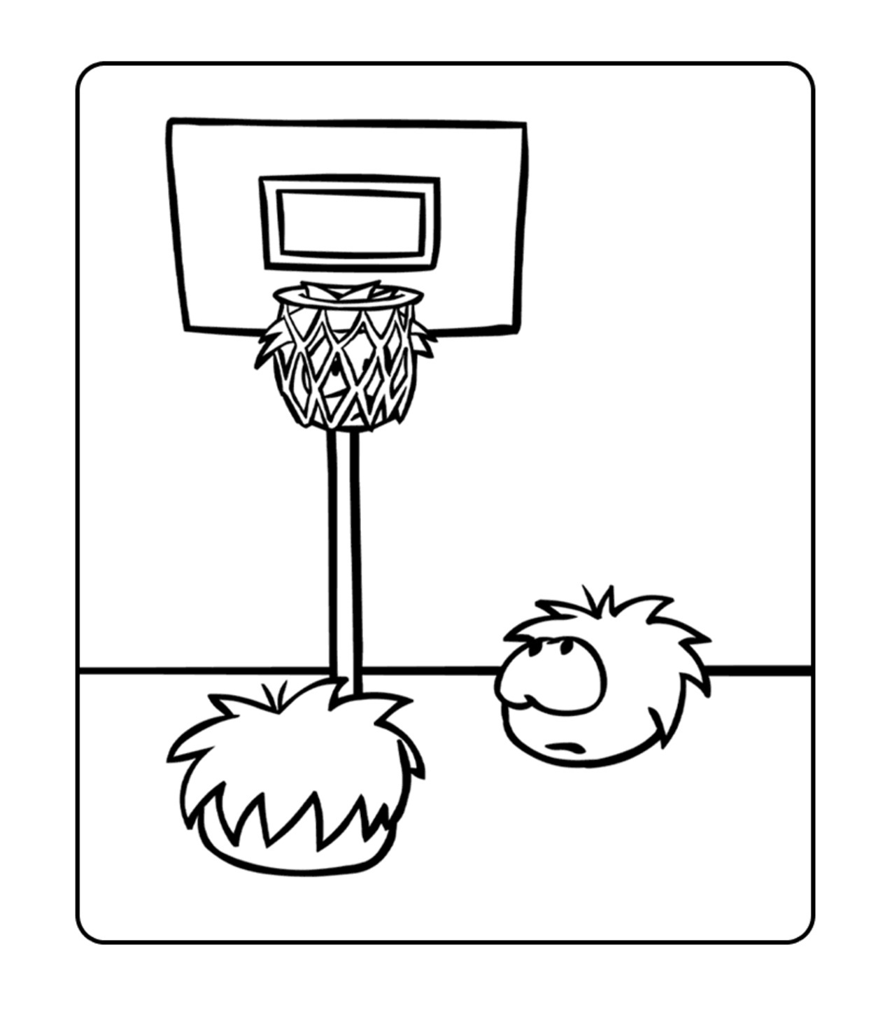 Printable Puffle Coloring Pages | Coloring Me