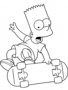 Printable Simpsons Coloring Pages4