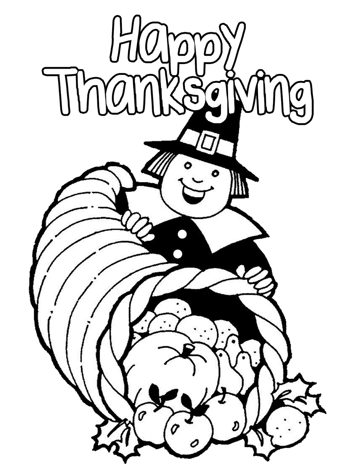 coloring pages thanksgiving to print - pilgrims free coloring pages