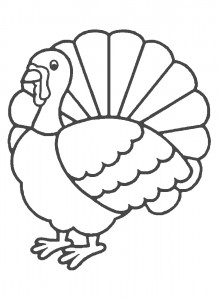 Printable Turkey Coloring Pages