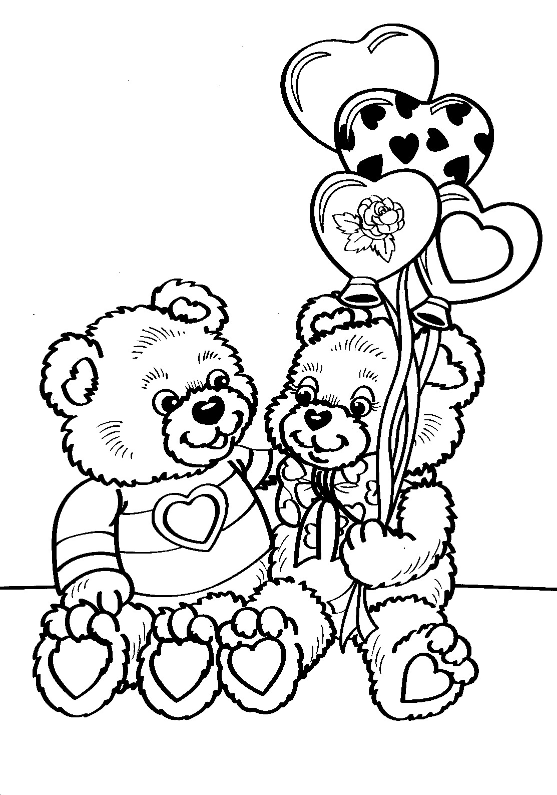Printable Valentines Coloring Sheets