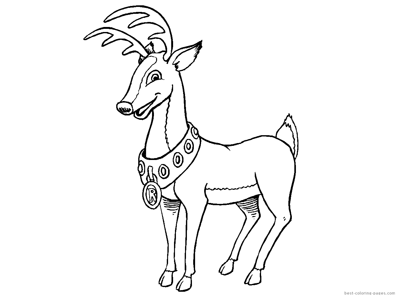 cartoon deer coloring pages - photo#21