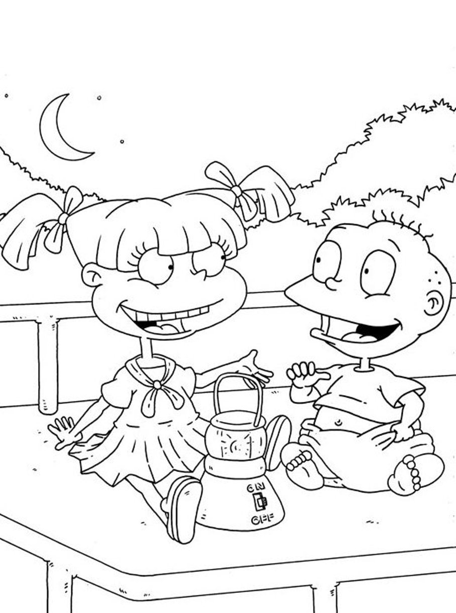 Printable Rugrats Coloring Pages Coloring Me
