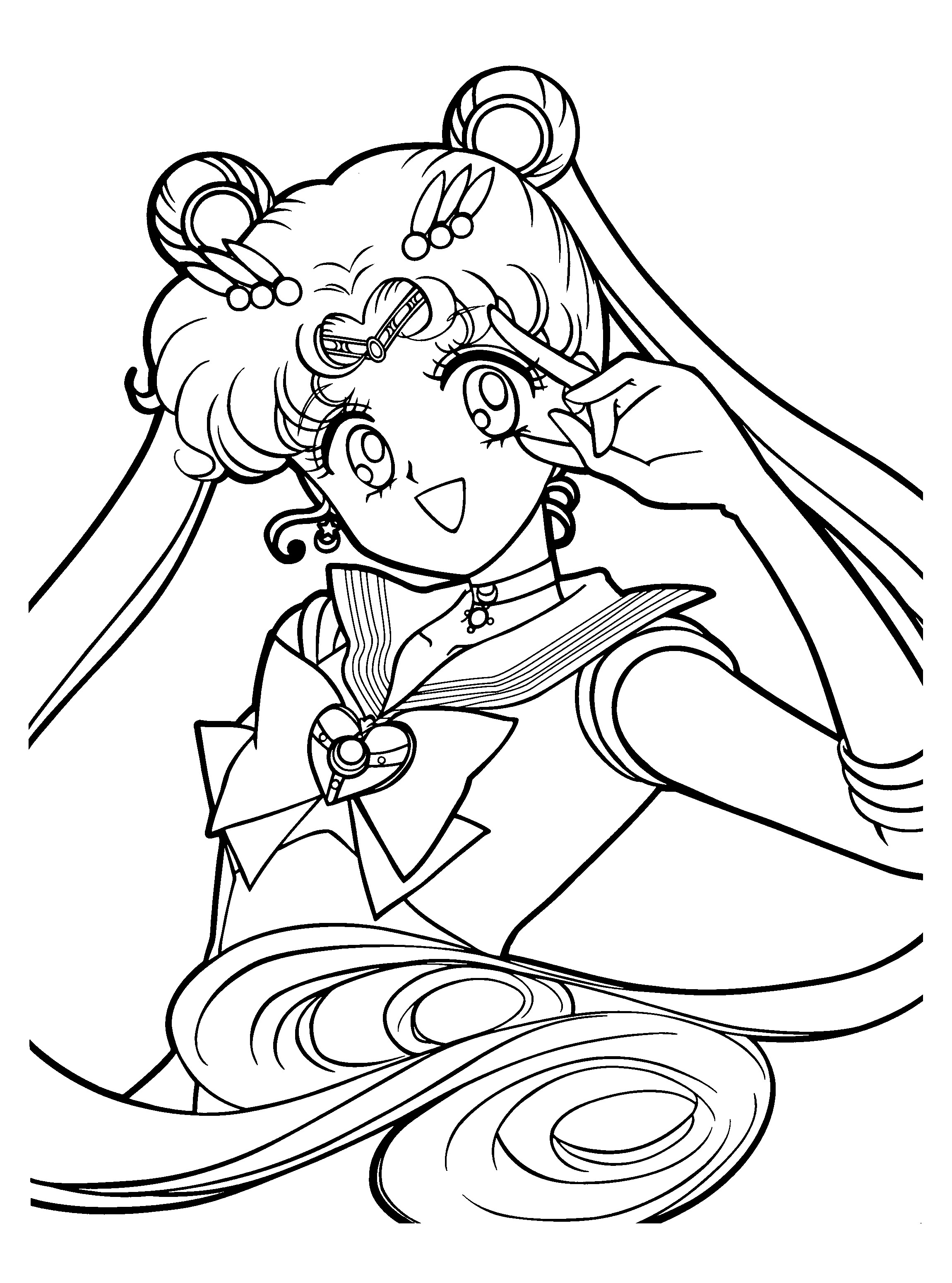 Free Printable Sailor Moon Coloring Pages For Kids | 3100x2300