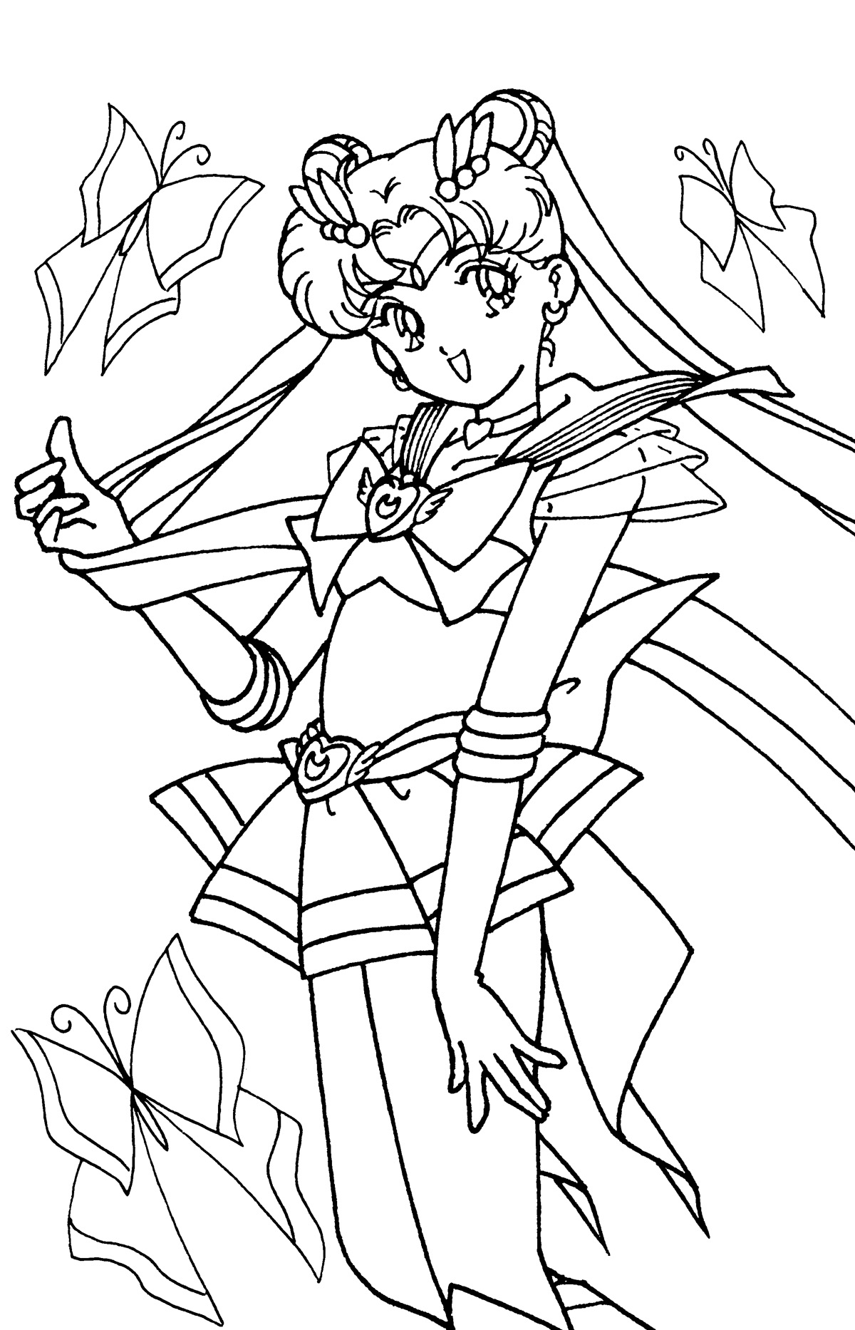Sailor Moon Manga Coloring Pages | Coloring Pages