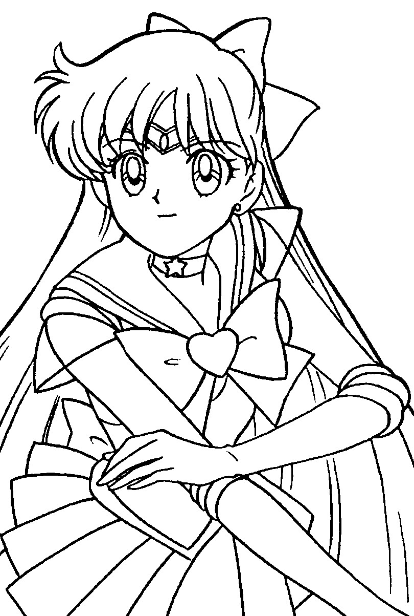sailor moon coloring sheets