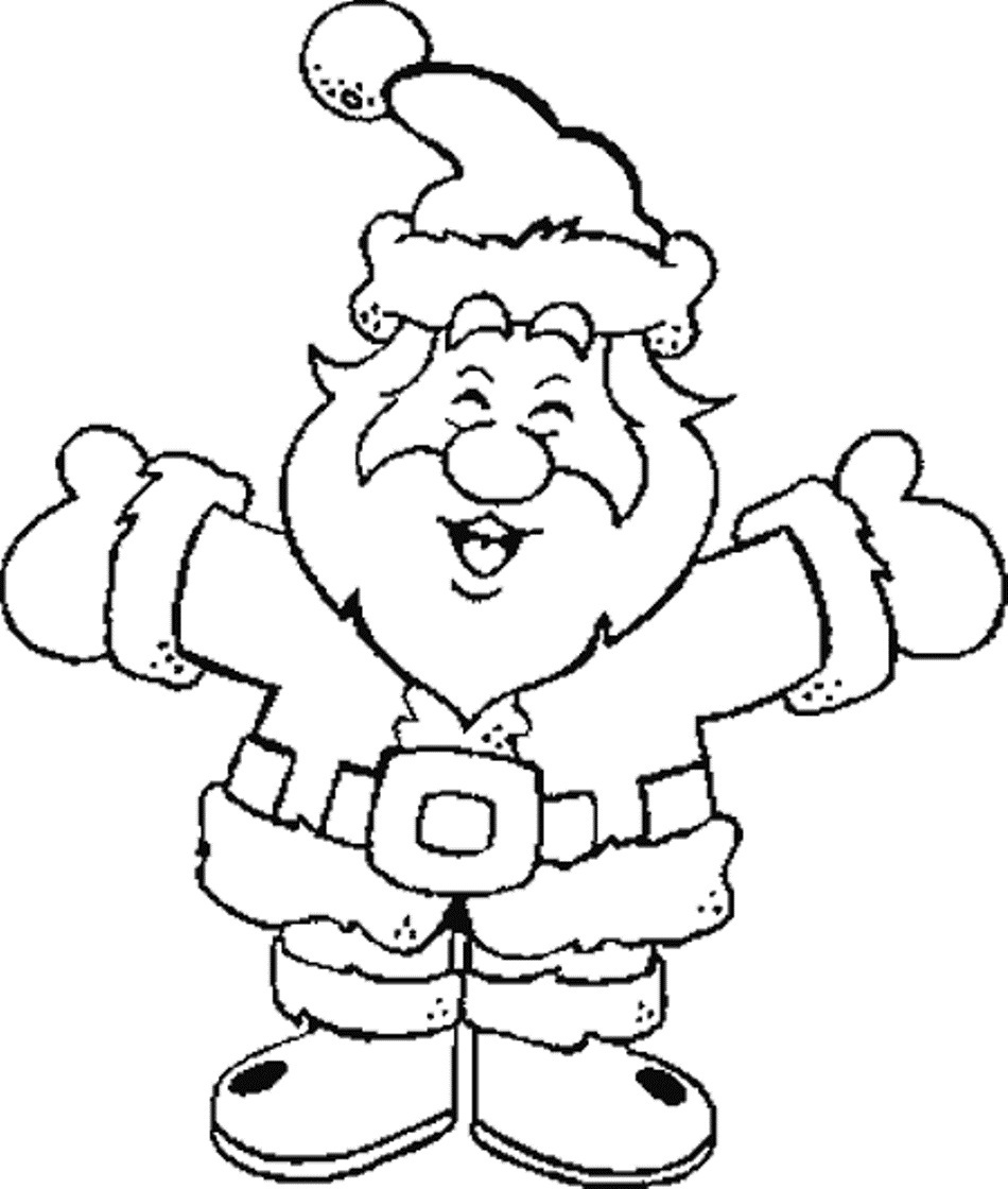 santa clause printable coloring pages - photo#27
