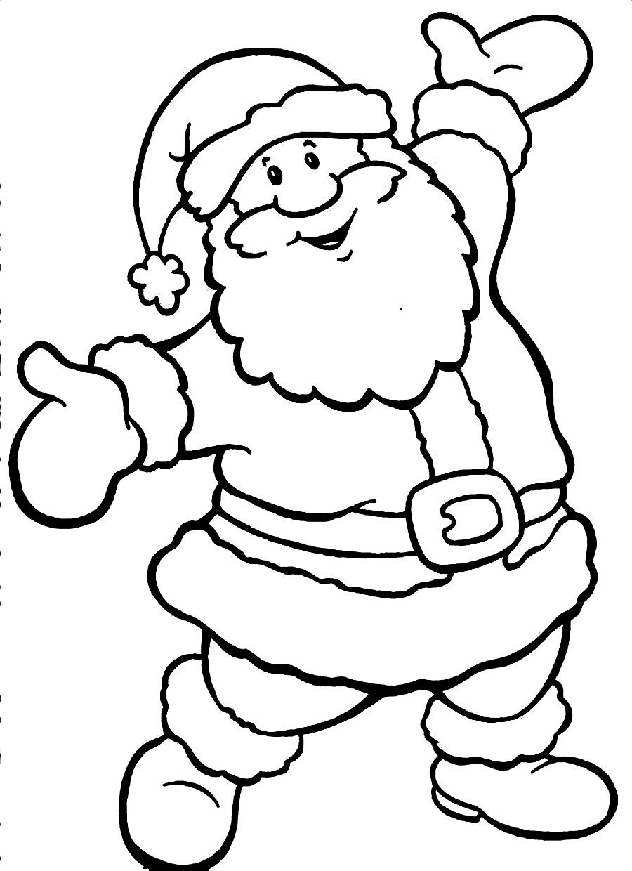 santa claus coloring pages online - photo#13