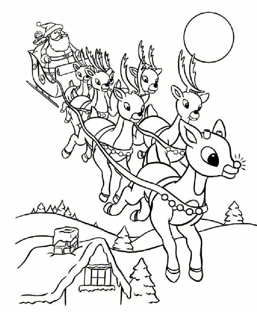 santa claus coloring pages online - photo#14