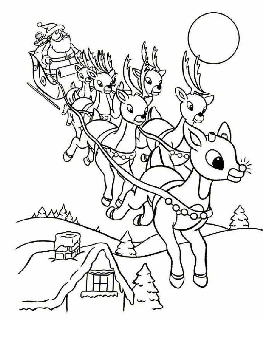 santa claus coloring pages online - photo#14