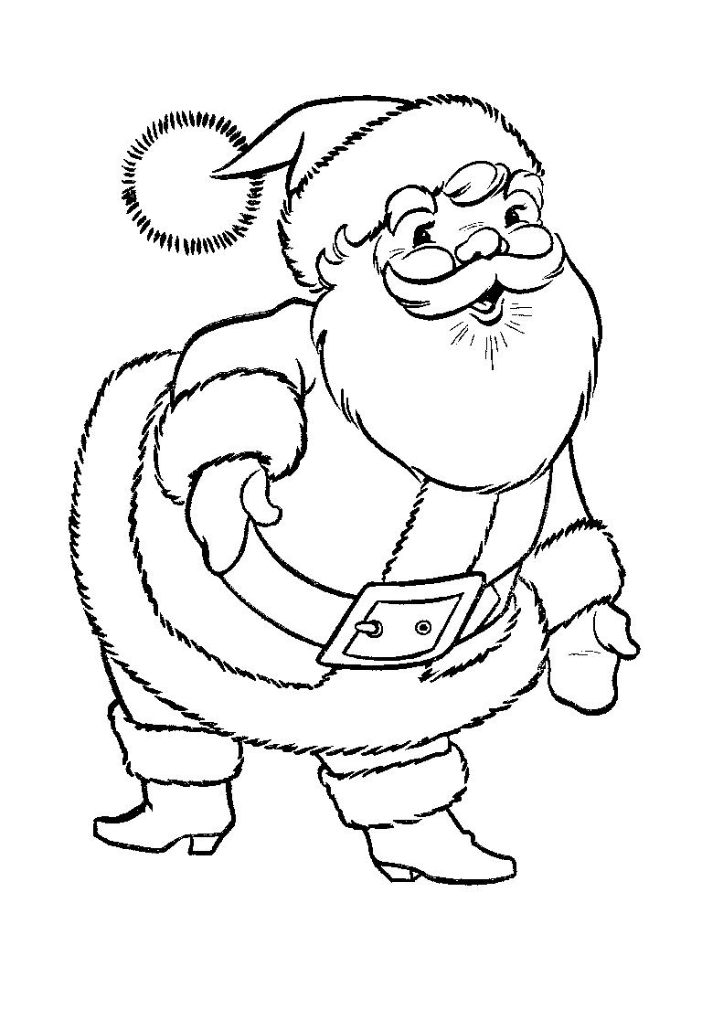 coloring pages with santa - photo#11