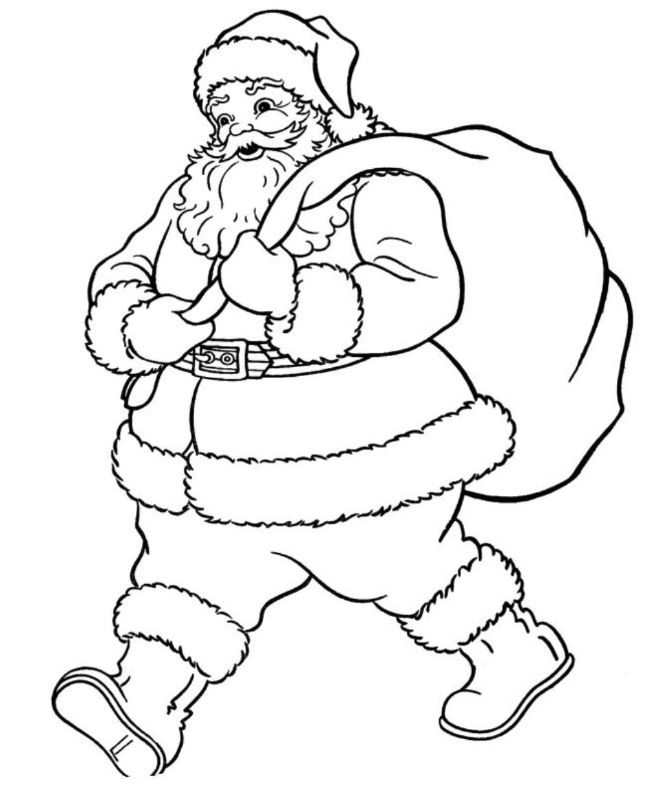 coloring pages with santa - photo#21