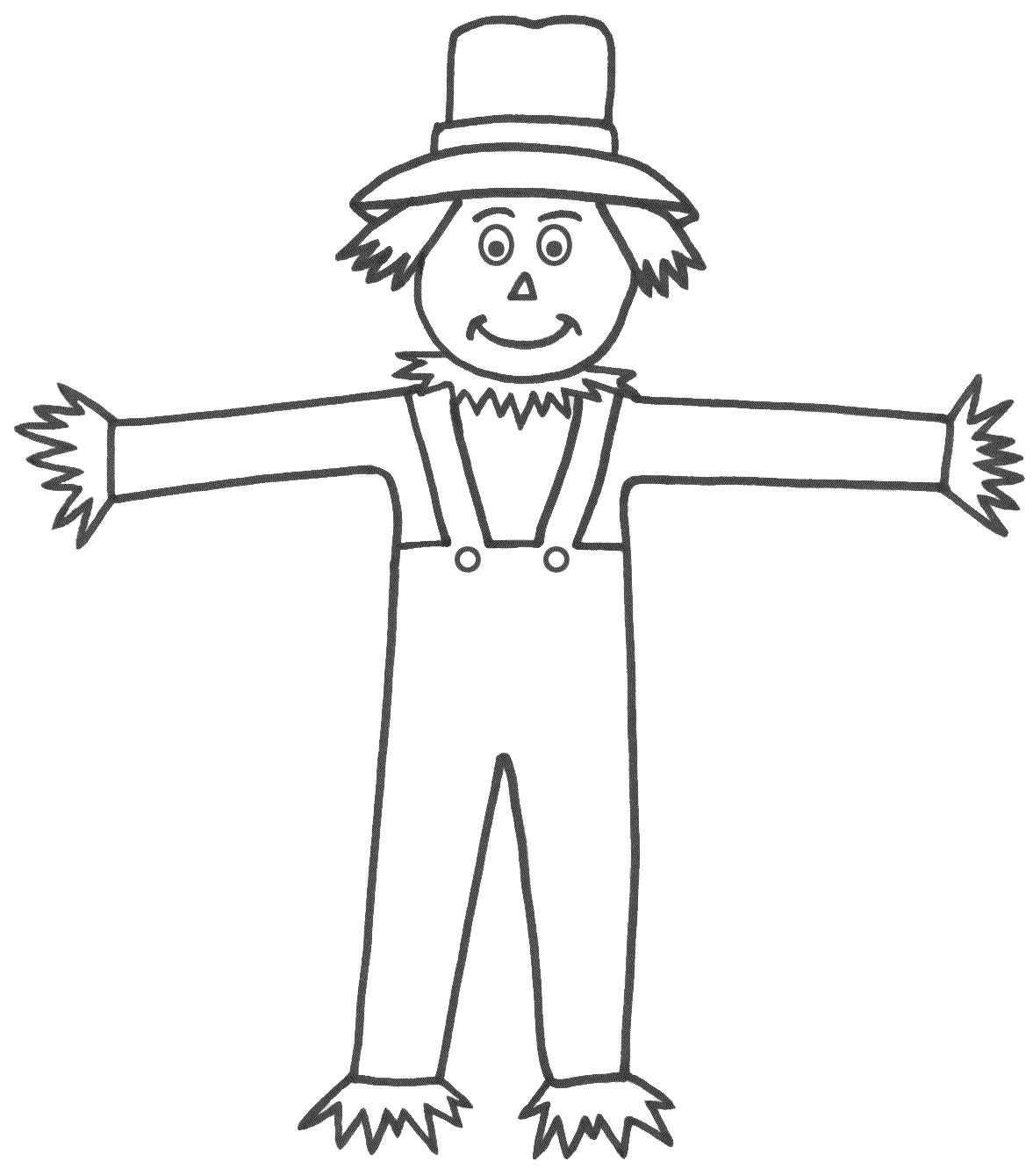 Scarecrow coloring pages for preschool coloring pages for Coloring pages scarecrow