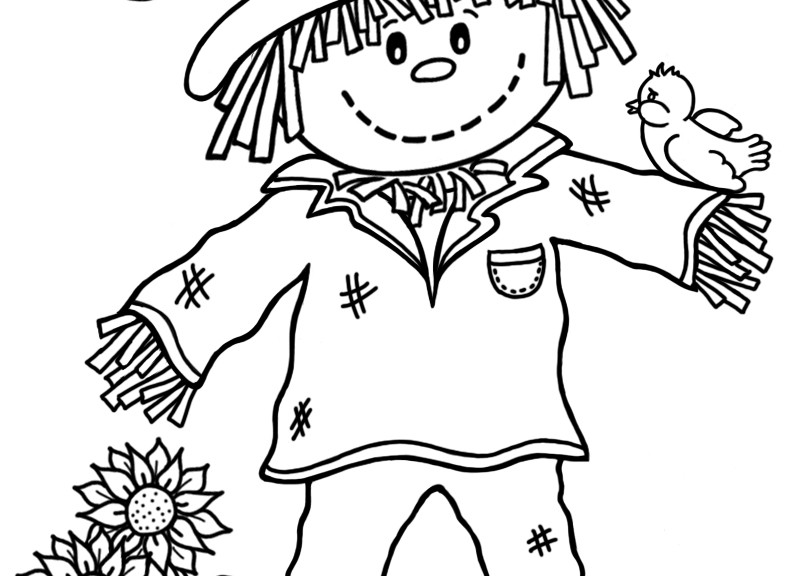 scarecrow coloring pages autumn - photo#14
