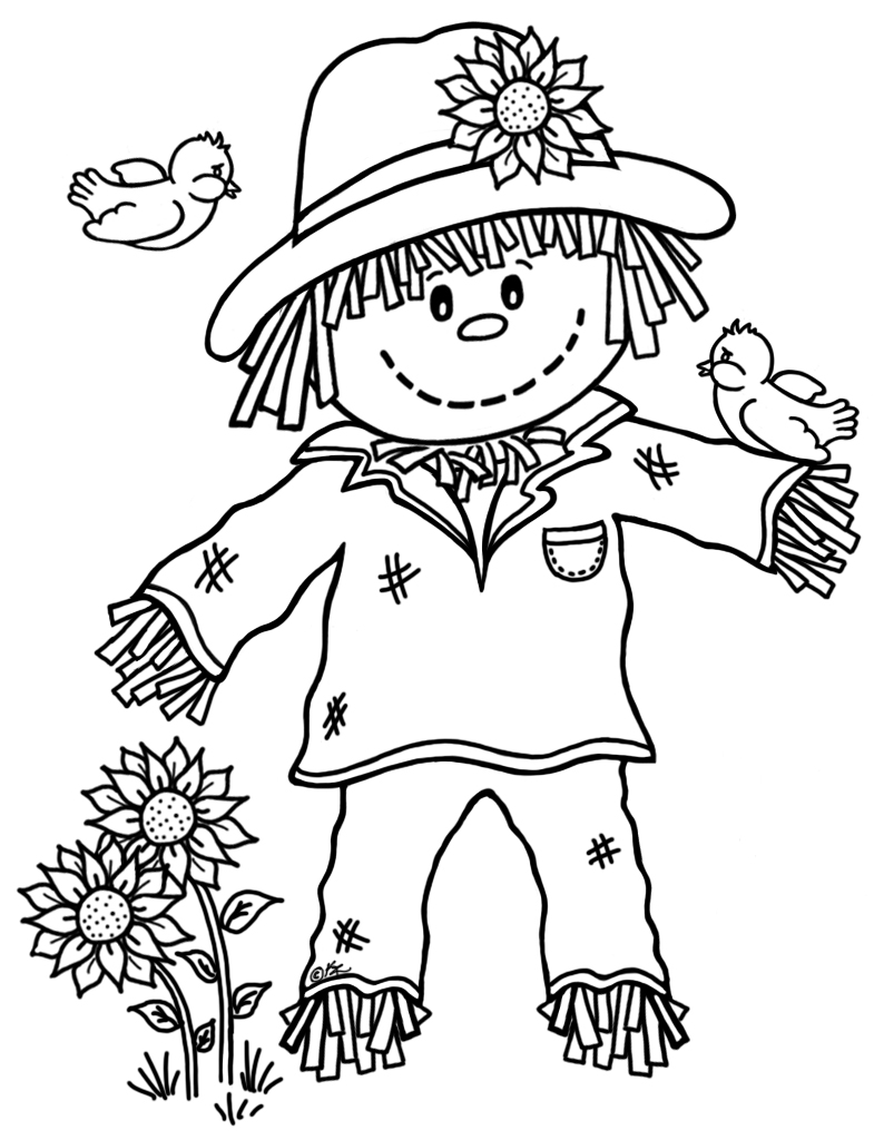 s is for scarecrow coloring pages - photo #21