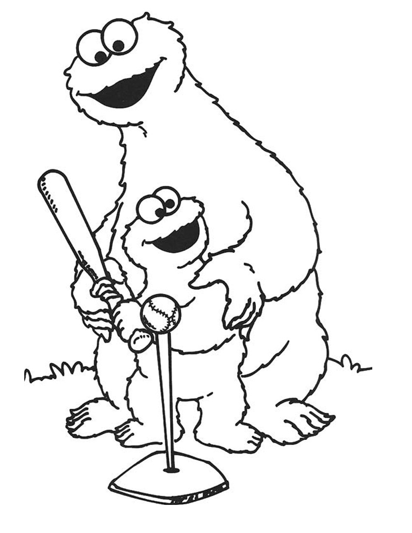 sesame street character coloring pages - photo#19