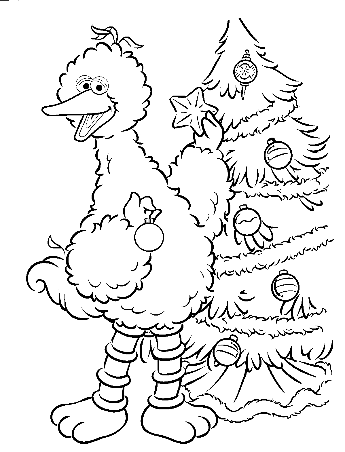 Sesame street free colouring pages for Sesame street color pages