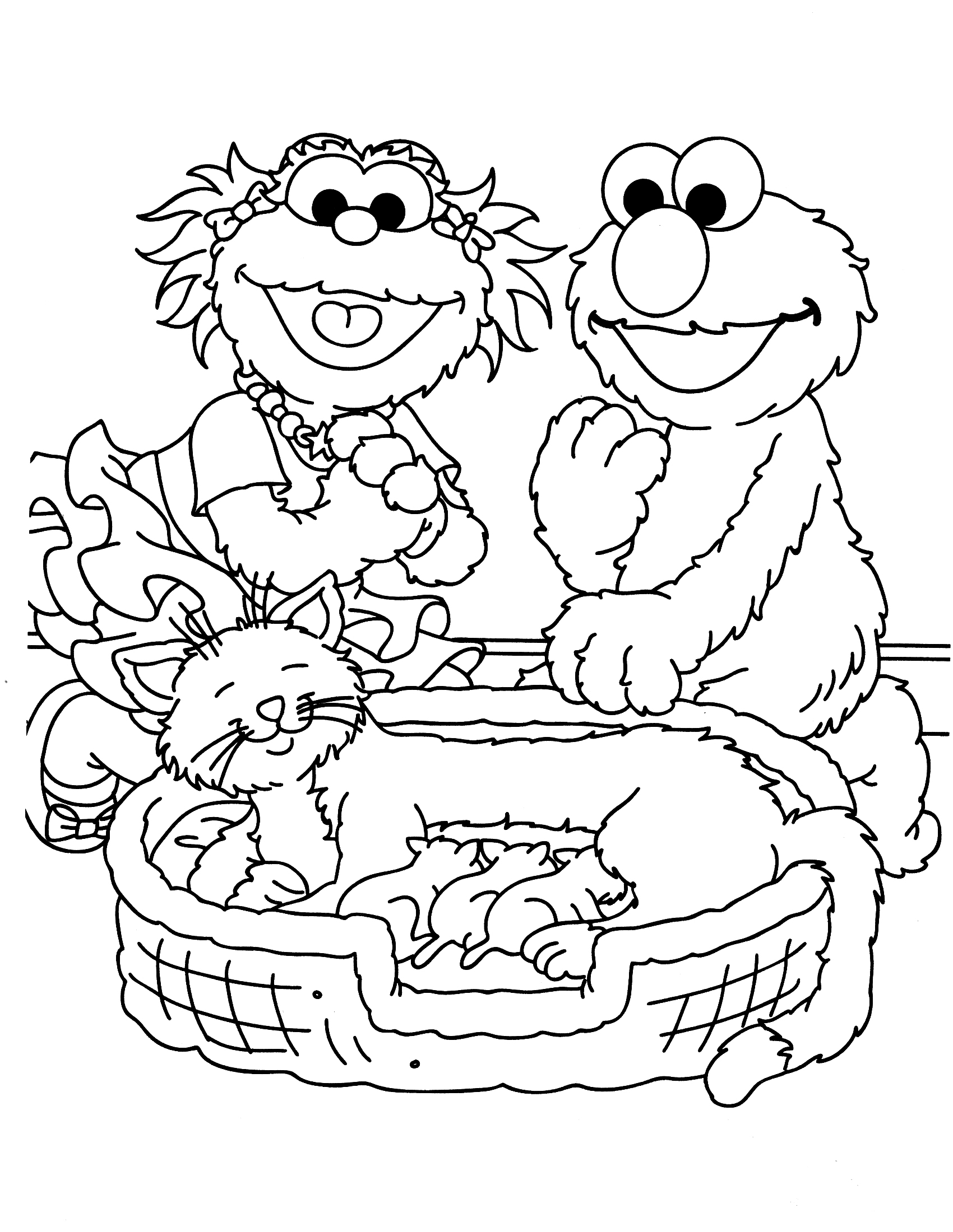 sesame street character coloring pages - photo#15
