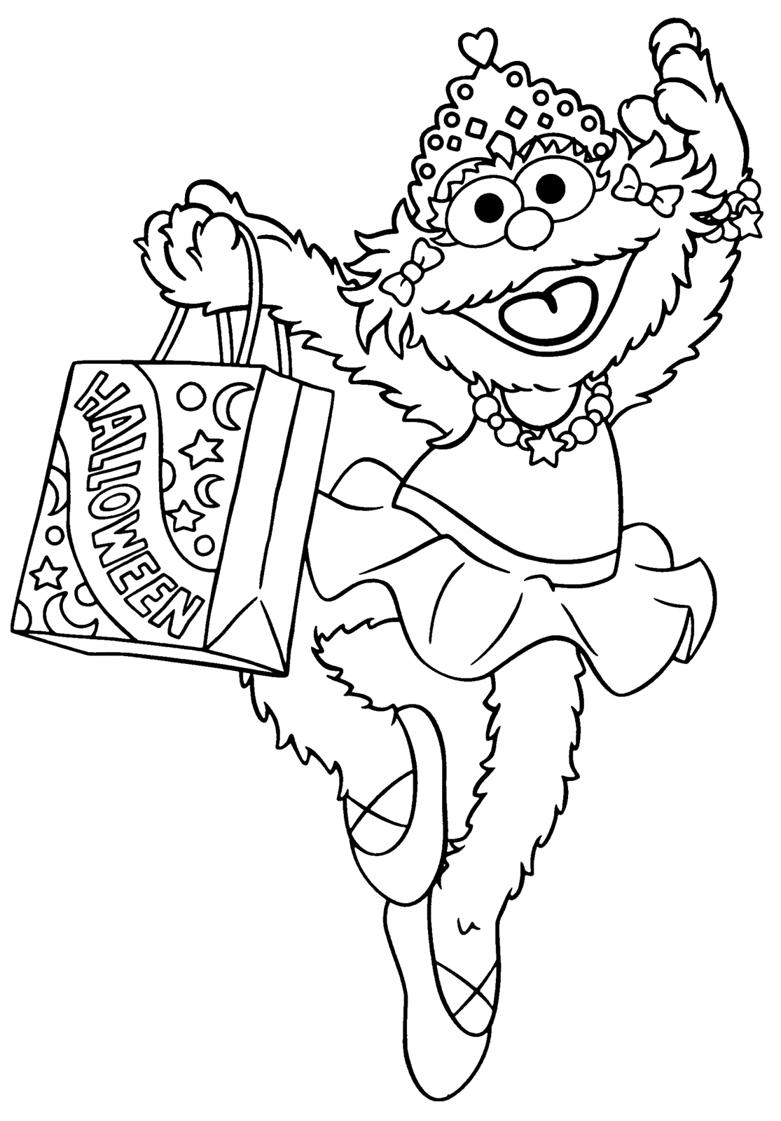 sesame street holiday coloring pages - photo#26