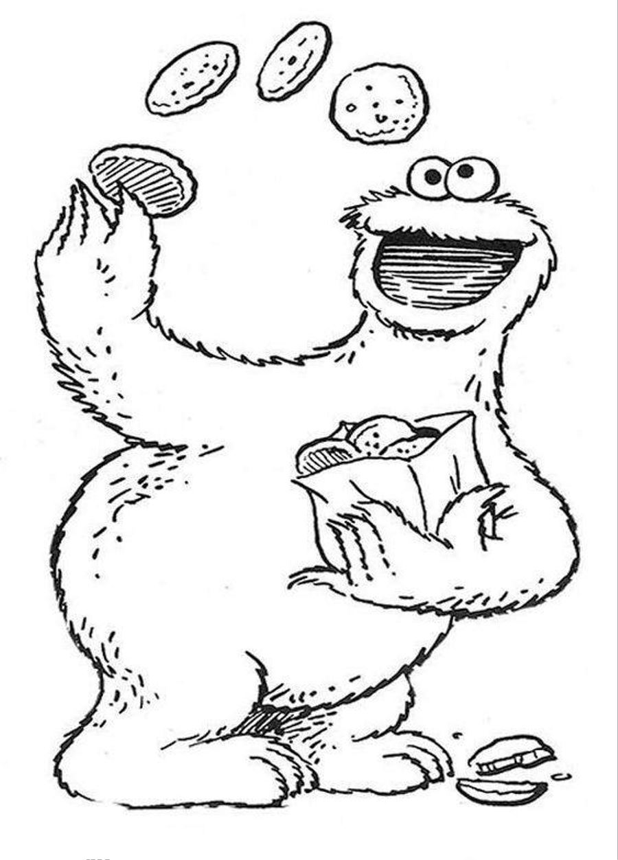 sesame street character coloring pages - photo#35
