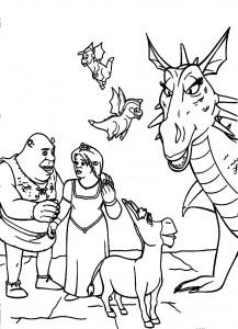 Shrek Coloring Pages Free Printable