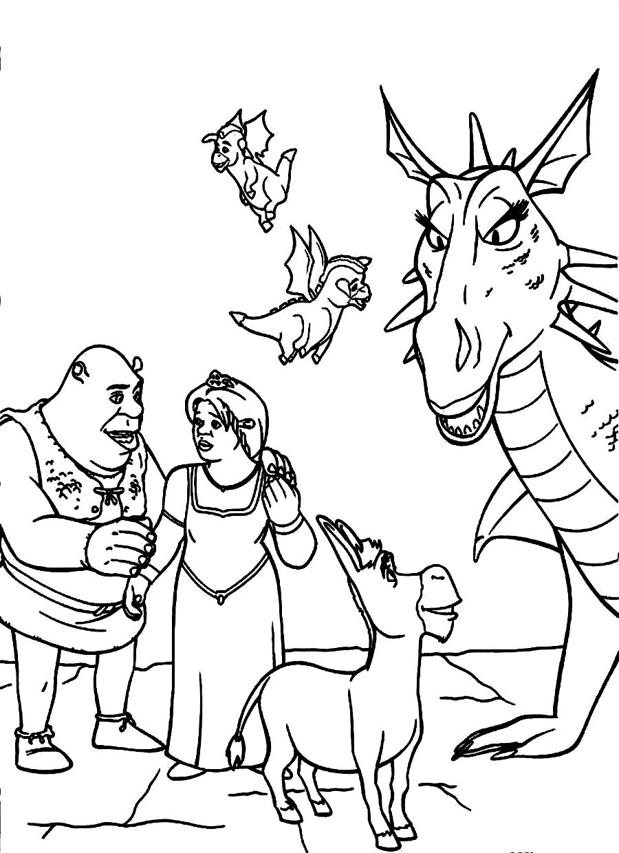 shreck coloring pages - photo#21