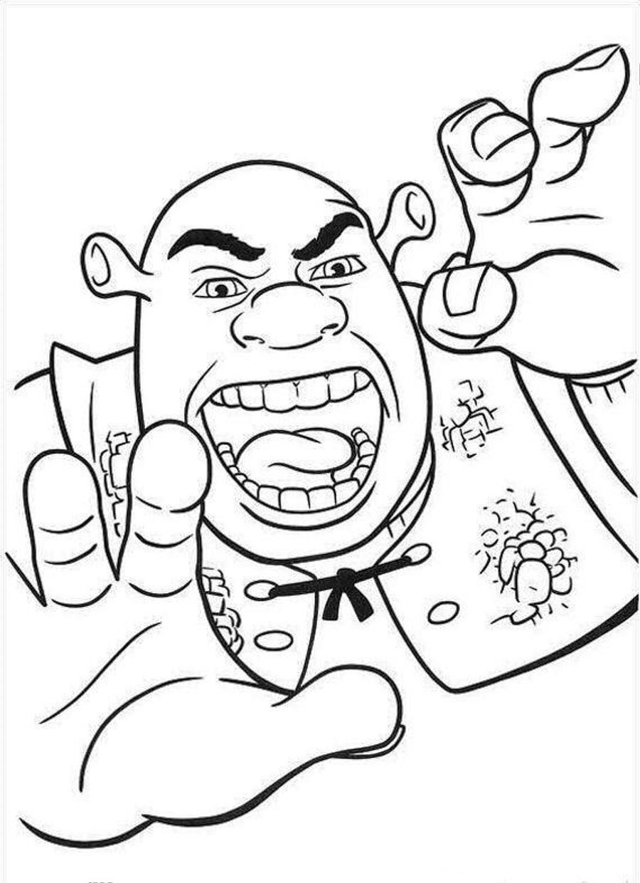 coloring pages shrek - photo#35