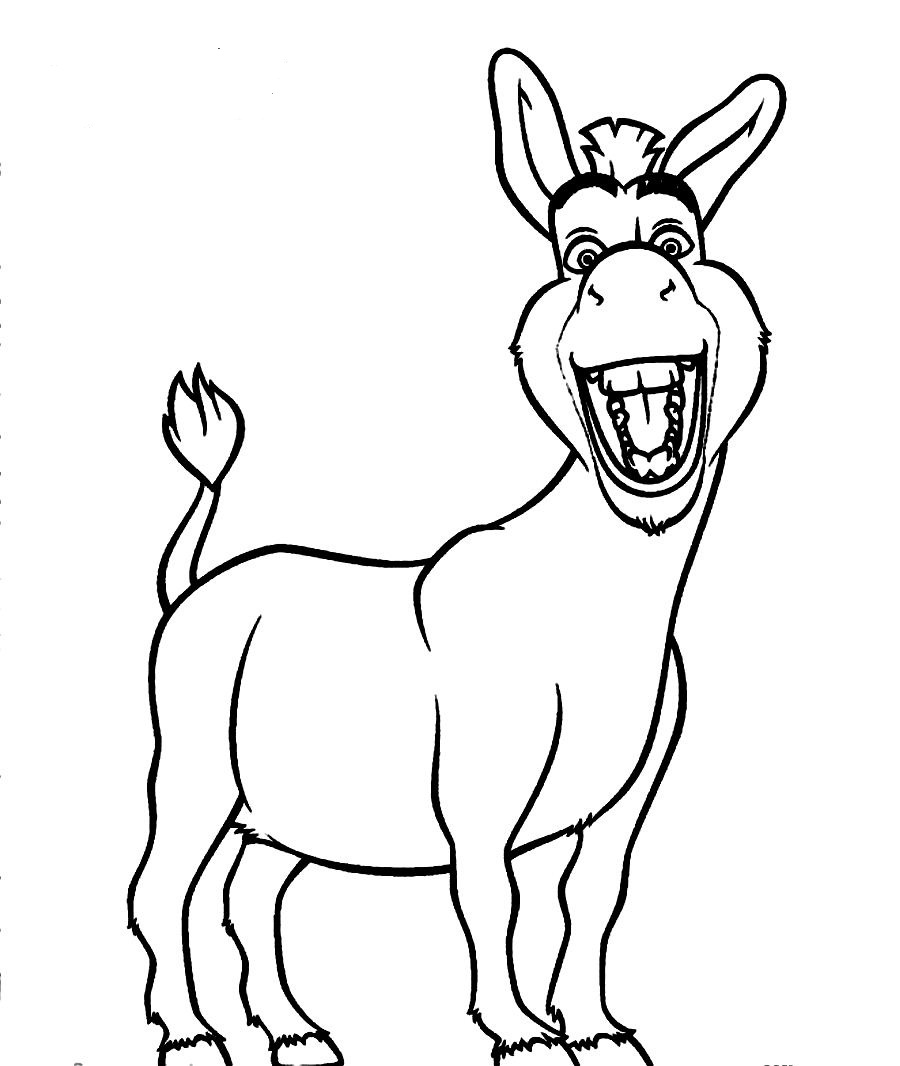 d is for donkey coloring pages - photo #8