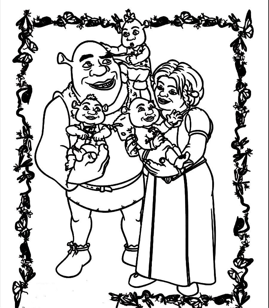 Printable Shrek Coloring Pages Coloringme Com