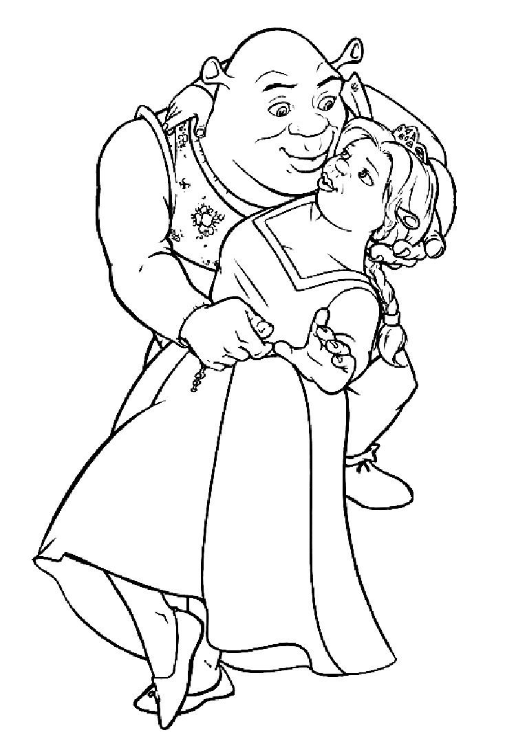 shrek dragon coloring pages - photo#11