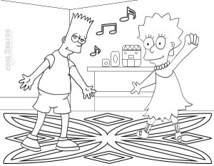 Simpsons Coloring Pages Free Printable