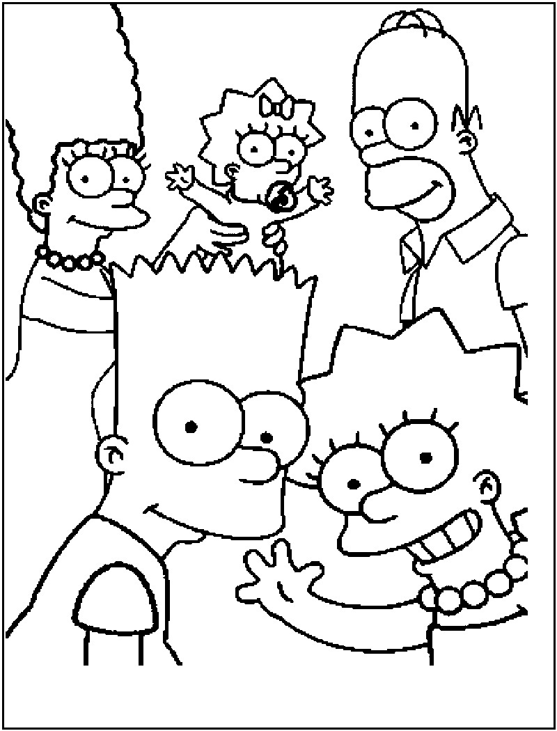 Printable Simpsons Coloring Pages Coloring Me Print Out Coloring Sheets