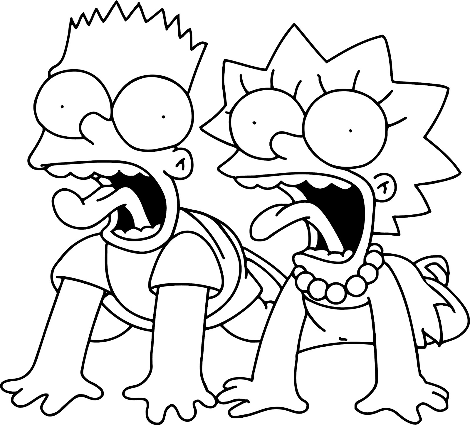 Free Coloring Pages Of Bart Simpsons Www Free Coloring Sheets