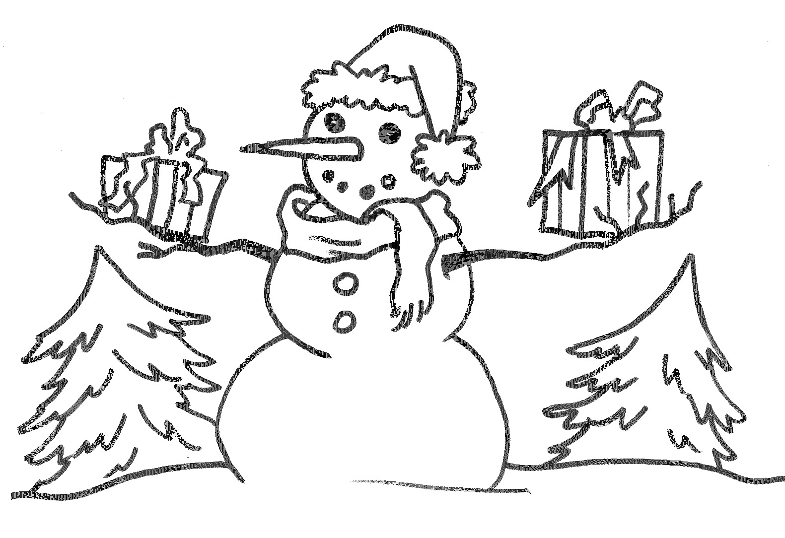 Printable Snowman Coloring Pages Coloring Me Tree And Snowman Coloring Pages