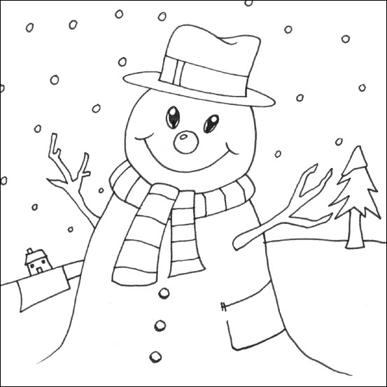 Printable Snowman Coloring Pages | Coloring Me