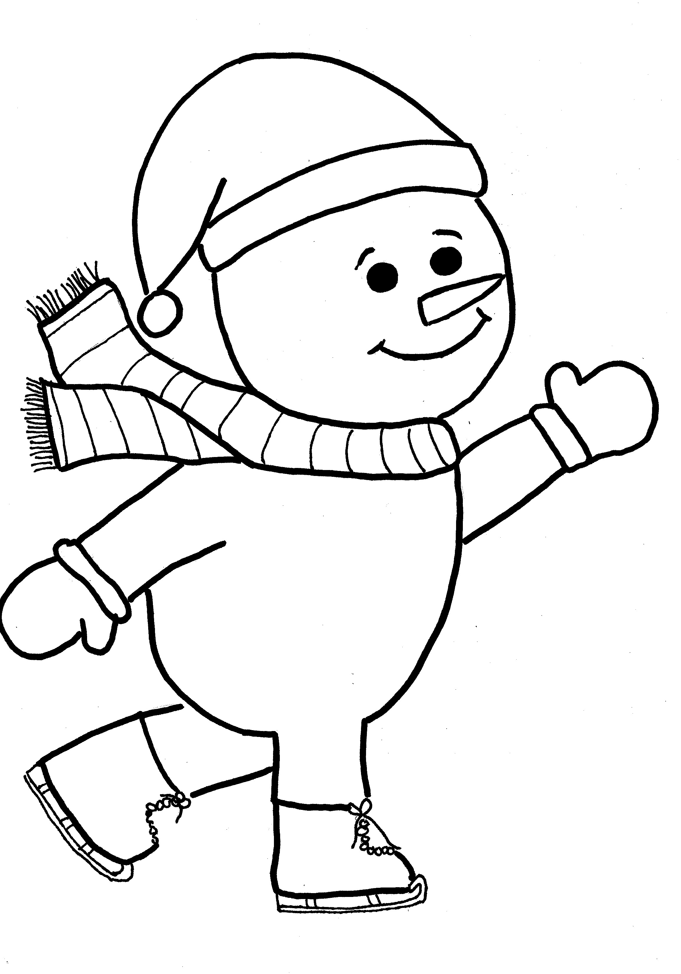 Snowman | Free Printable Templates & Coloring Pages | FirstPalette.com | 3299x2307