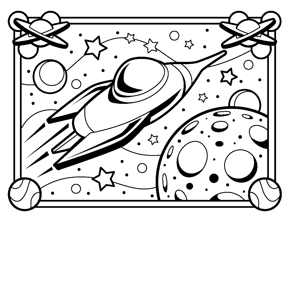 Emejing Spaceship Coloring Pages Print Gallery Coloring Page