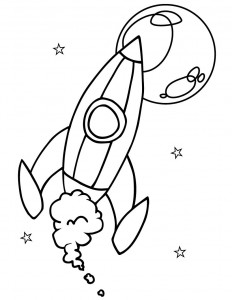 Spaceship Coloring Pages