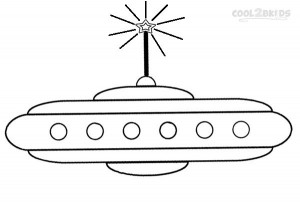 Spaceship Coloring Pages to Print