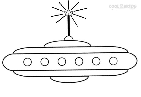 Alien Ship Coloring Page Thestout