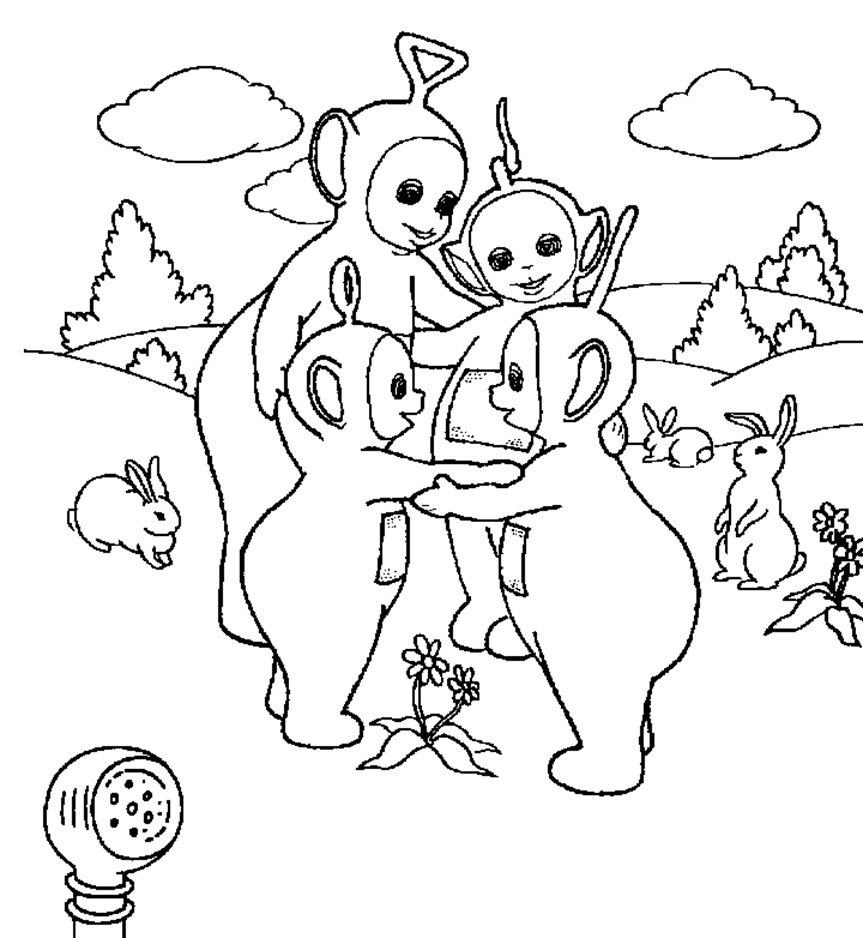 teletubby coloring pages - photo#19