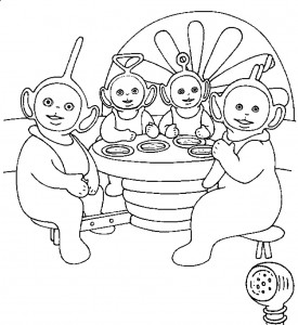 Teletubbies Free Coloring Pages