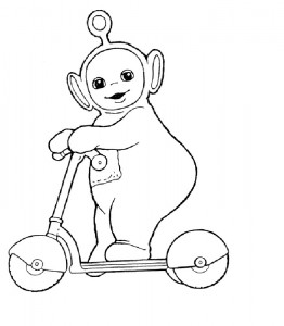 Teletubbies Po Coloring Pages