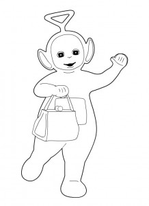 Teletubbies Tinky Winky Coloring Pages