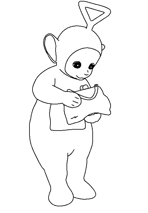 tinky winky coloring pages