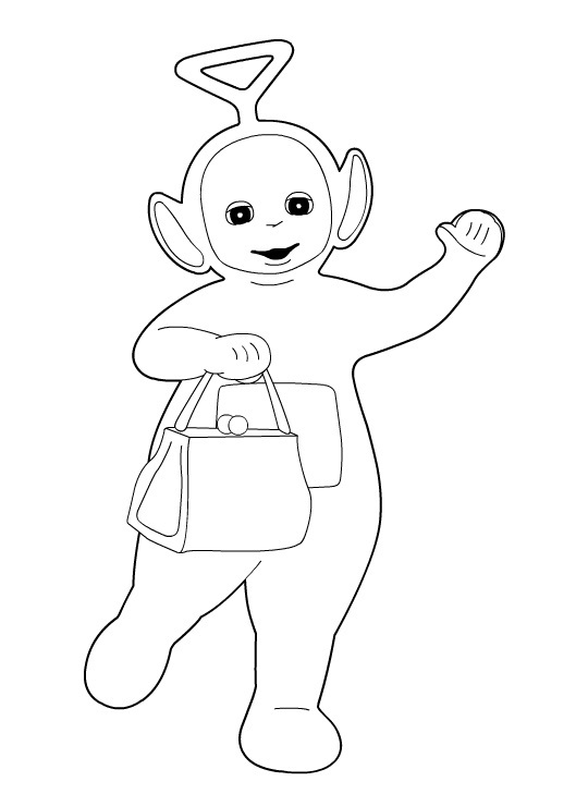 Free Coloring Pages Of Po From Teletubbies