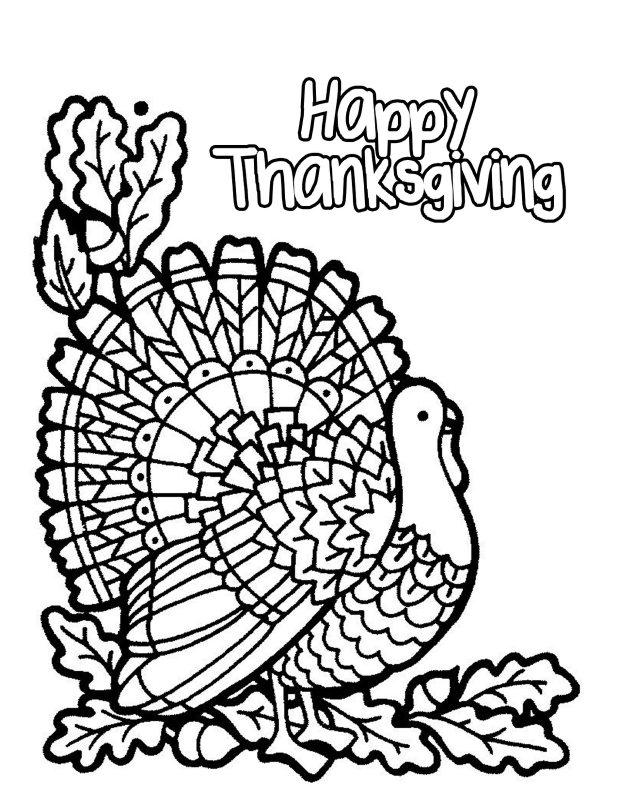 printable coloring pages for thanksgiving - photo#9