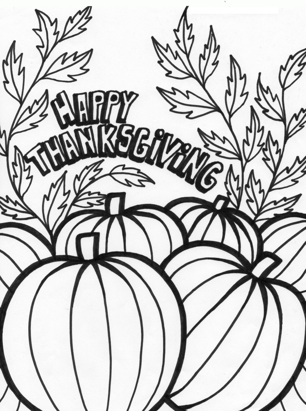 Printable Thanksgiving Coloring Pages Me