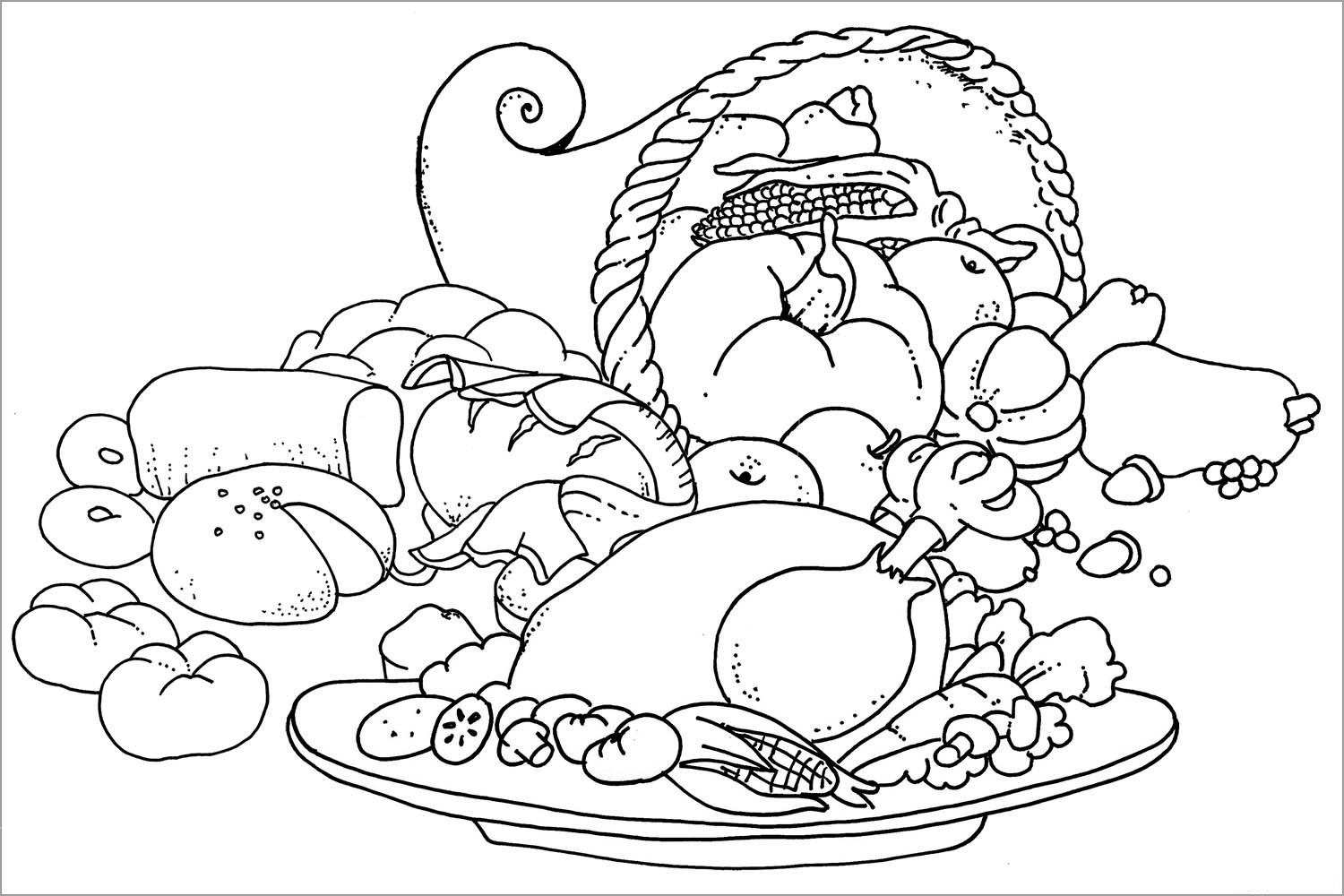 Printable Thanksgiving Coloring Pages | Coloring Me