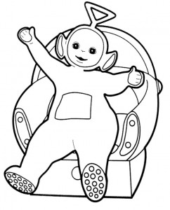 Tinky Winky Teletubbies Coloring Pages